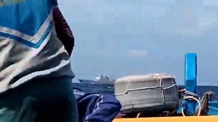 HEBOH Kapal Perang Cina Masuk Laut Natuna Utara, Nelayan Sempat Cemas Melaut