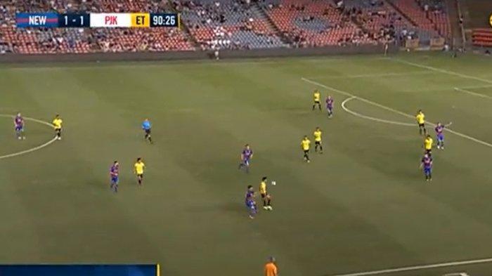 Waktu Normal Berakhir Imbang 1-1, Laga Newcastle Jets vs Persija Dilanjutkan Babak Tambahan Waktu