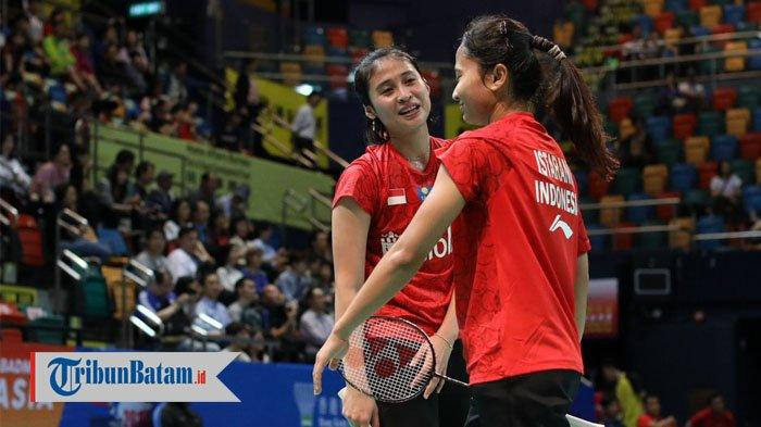Hasil Kejuaraan Beregu Campuran Asia 2019, Kalahkan Thailand, Indonesia Juara Grup C