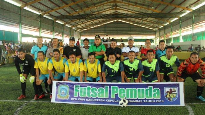 Atraksi Kuda Kepang Ikut Meriahkan Open Turnamen Futsal Cup II yang Digelar KNPI Anambas