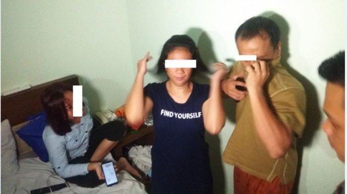 Operasi Pekat 2019, Polisi Grebek Kamar Hotel,1 Pria dan 2 Wanita Dalam Satu Kamar Sedang Pelukan