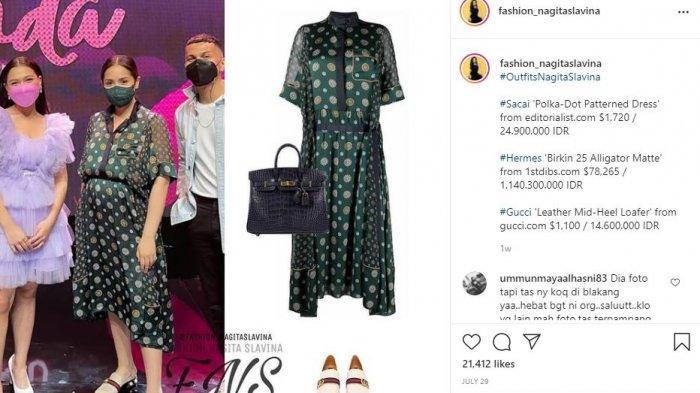 Total Harga Outfit Nagita Slavina bisa Beli Satu Rumah Mewah, Satu Kali OOTD Capai Rp 1 M