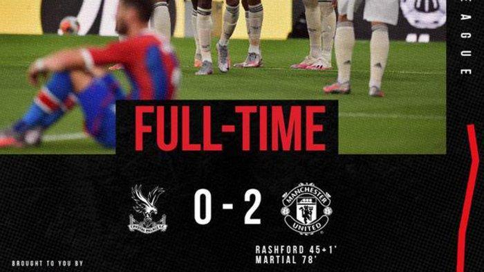 Hasil Liga Inggris Crystal Palace vs Man United, Marc Rashford Satu Gol Satu Assist, MU Menang