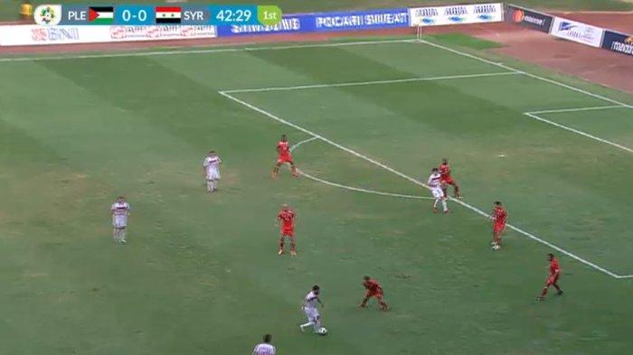 SEDANG BERLANGSUNG, Siaran Langsung Babak 16 Besar Sepakbola: Palestina vs Suriah