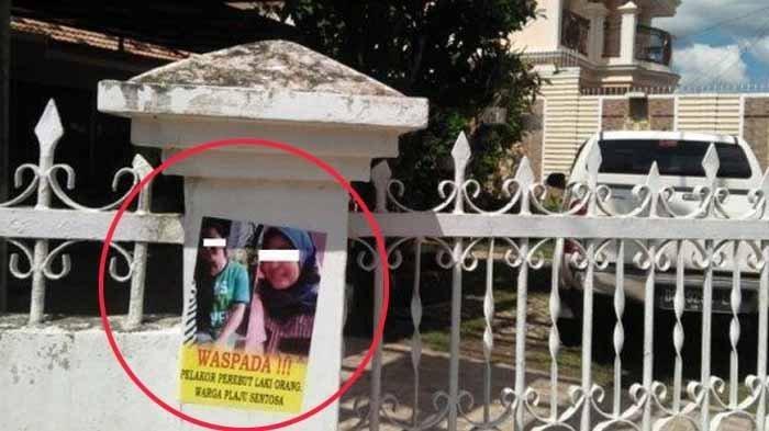 Foto Viral. Gambar Pelakor Ditempel di Pagar Rumah. Banyak yang Mengira Pamflet Kampanye Caleg