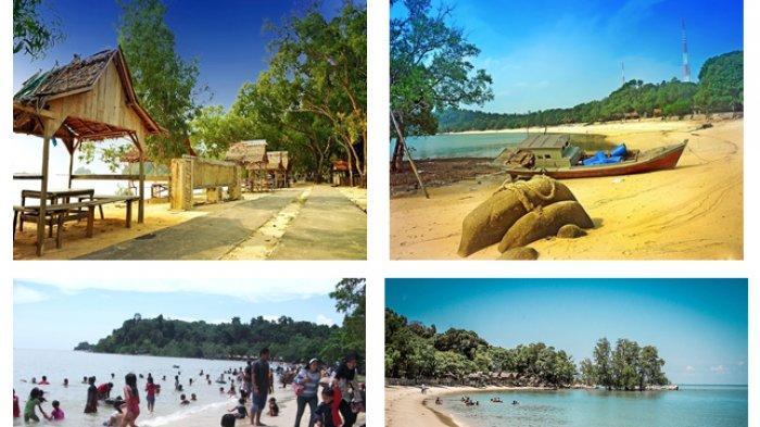 Pantai Pelawan Karimun, salah satu destinasi wisata alam yang banyak dikunjungi wisatawan.