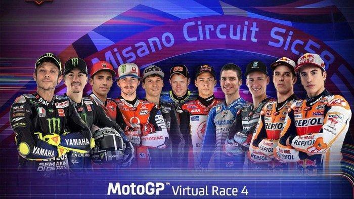 Jadwal MotoGP Virtual GP San Marino Minggu (17/5) Hanya Kelas MotoGP & Moto-E, Valentino Rossi Ikut