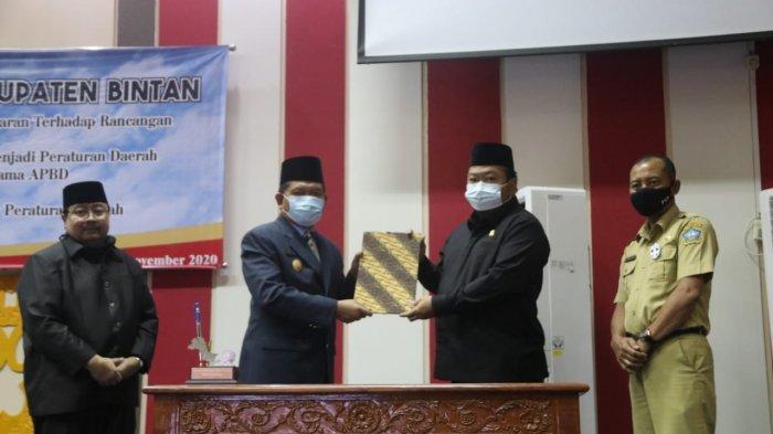 SAH, APBD Bintan 2021 Diketuk Rp 1,2 Triliun Lewat Paripurna DPRD