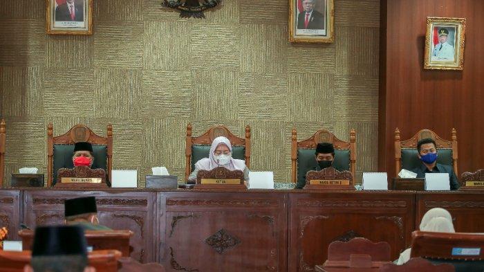 Paripurna DPRD Anambas Penyampaian Rekomendasi LKPj Bupati Anambas 2020.
