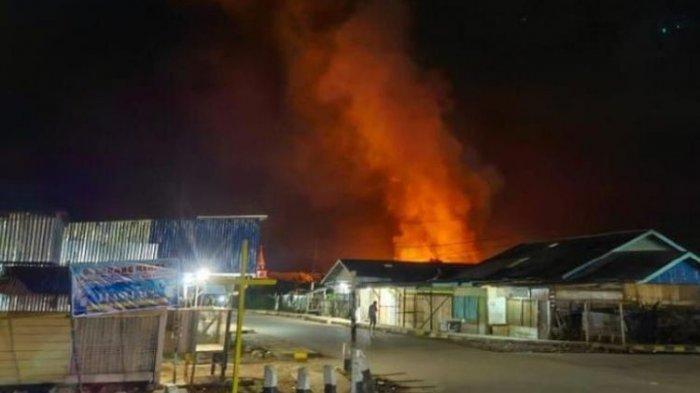 Berselisih dengan Paskhas TNI AU, 32 Bangunan Ludes Terbakar, Satu Orang Tewas