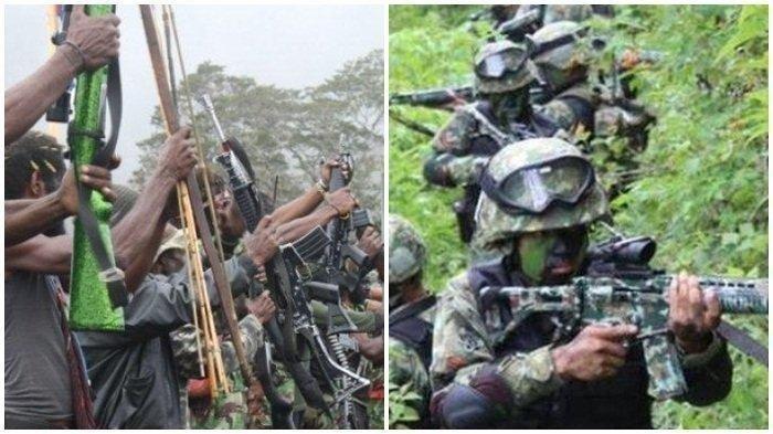 Baku Tembak TNI Polri dengan Teroris KKB Papua, Bikin Teroris Kocar-kacir Hingga Ada yang Tewas