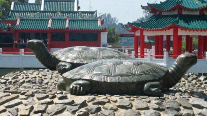 patung kura-kura di Pulau Kusu