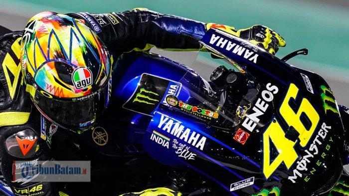 MOTOGP 2019- Catatan Waktu Valentino Rossi Mengecewakan di Test Qatar Hari ke-2, Ini yang Dialaminya