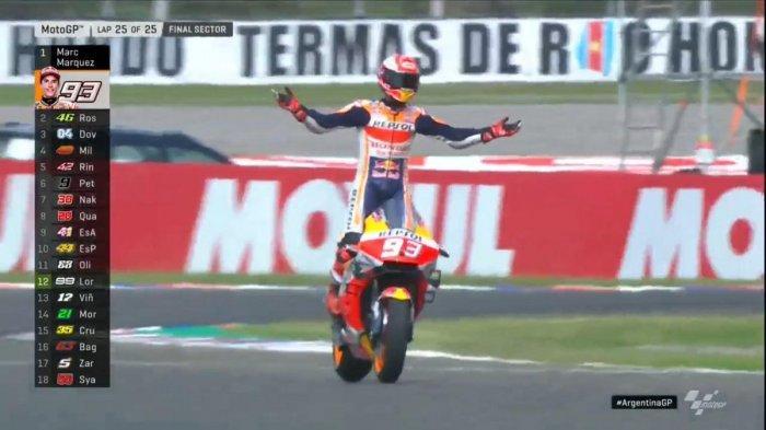 Klasemen MotoGP Setelah Marc Marquez Juara GP Argentina, Valentino Rossi Kalahkan Dovizioso