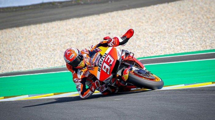 Hasil Kualifikasi MotoGP Perancis, Sempat Terjatuh, Marc Marquez Pole Position, Valentino Rossi No 5