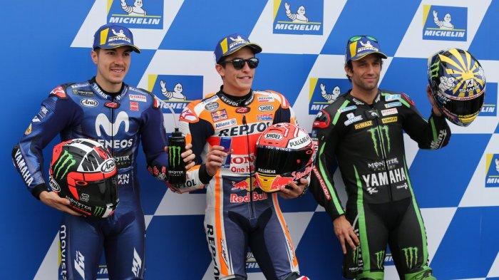 MotoGP Australia - Hasil Kualifikasi Marc Marquez Pole Position, Valentino Rossi Start dari Nomor 7