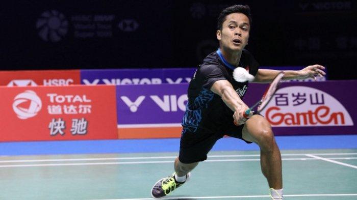 Live streaming Semifinal Swiss Open 2019, Anthony Sinisuka Ginting Hadapi Wakil China, Shi Yuqi