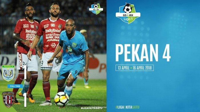 Hasil Lengkap dan Klasemen Liga 1 2018 Pekan Keempat. Bali United Seri. Persipura Pimpin Klasemen