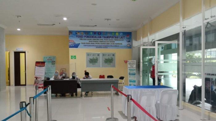 PELABUHAN DOMESTIK SEKUPANG - Kondisi Pelabuhan Domestik Sekupang, Kota Batam, Provinsi Kepri saat larangan mudik, Minggu (9/5/2021).