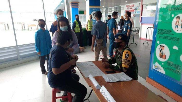 PELABUHAN SRI BINTAN PURA - Kondisi Pelabuhan Sri Bintan Pura Tanjungpinang saat hari pertama penerapan larangan mudik, Kamis (6/5/2021).