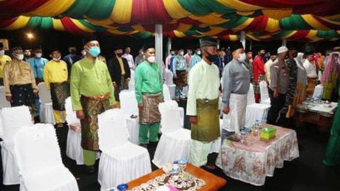 Pelaksanaan Seleksi Tilawatil Quran dan Hadist (STQH) VII Tingkat Kabupaten Anambas di Kecamatan Siantan Selatan, Minggu (21/3/2021).