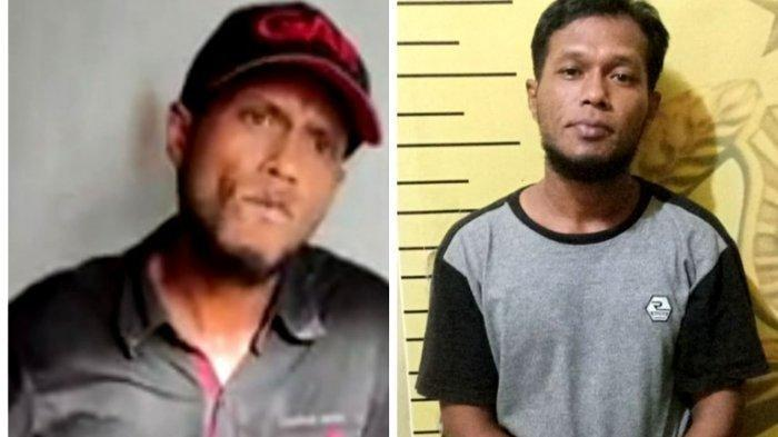 Khalid Ramanda, pelaku premanisme yang sempat viral karena ulahnya memeras warga kini diamankan Polsek Medan Timur