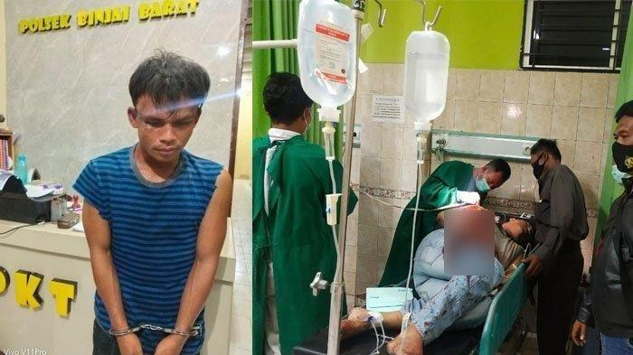 Bripka Ade Prayoga Sekarat Diserang Pemuda, Berlumuran Darah Ditebas Parang Secara Membabi Buta
