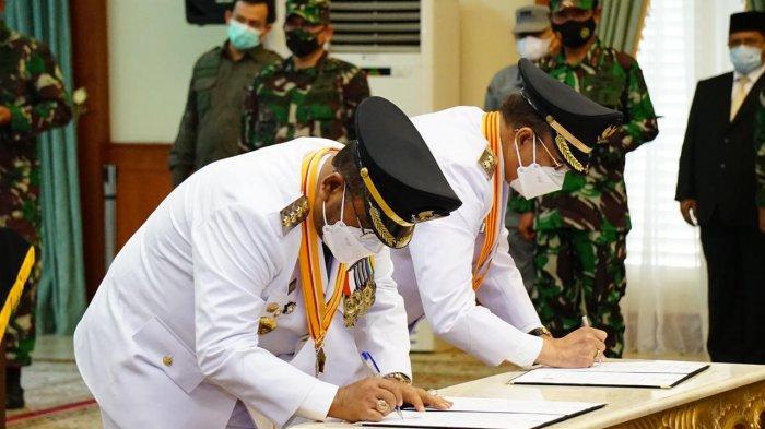 Pelantikan Bupati dan Wakil Bupati Karimun, Dilantik di Gedung Daerah Tanjungpinang