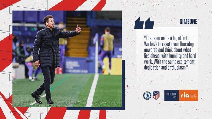 Atletico Madrid Kalah Lawan Chelsea, Diego Simeone: Saya Tak Cari Alasan, Mereka Main Lebih Baik