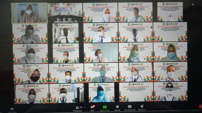 Pelatihan dasar Calon Pegawai Negeri Sipil (CPNS) formasi tahun 2019 yang dilaksanakan oleh Badan Kepegawaian dan Pengembangan Sumber Daya Manusia (BKPSDM) secara virtual.