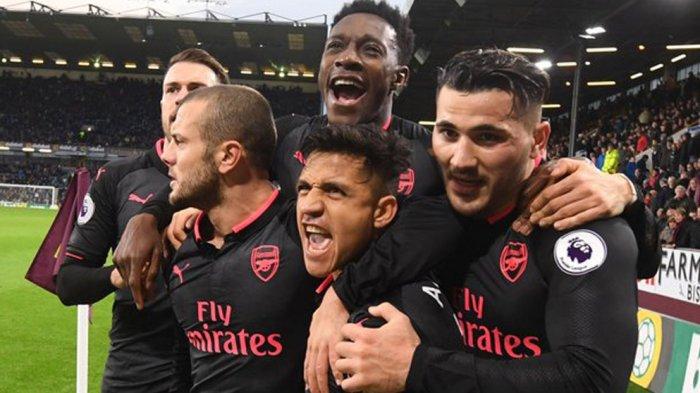 Burnley vs Arsenal - Gol Penalti Alexis Sanchez di Ujung Laga Menangkan Arsenal