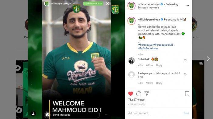 Transfer Liga 1 2020 - Resmi Jadi Pemain Persebaya Surabaya, Ini Kesan Mahmoud Eid