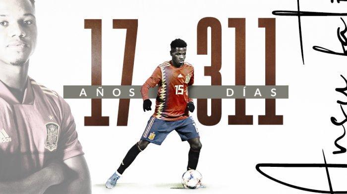 Ansu Fati Pecahkan Rekor Pencetak Gol Termuda di Timnas Spanyol, Luis Enrique: Dia Percaya diri