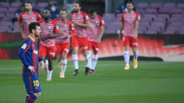 Hasil, Klasemen, Top Skor Liga Spanyol Setelah Barcelona Kalah Lawan Granada, Lionel Messi 26 Gol
