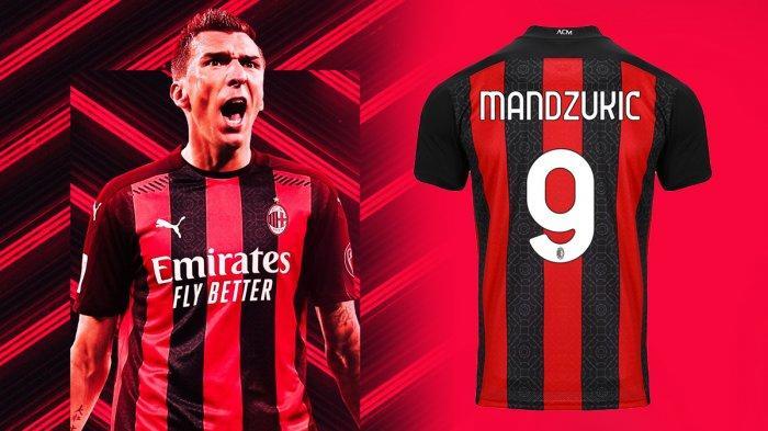 Disebut Sebagai Kutukan, Nomor Pungggung 9 AC Milan Dipakai Mario Mandzukic, Sulit Gagal Cetak Gol