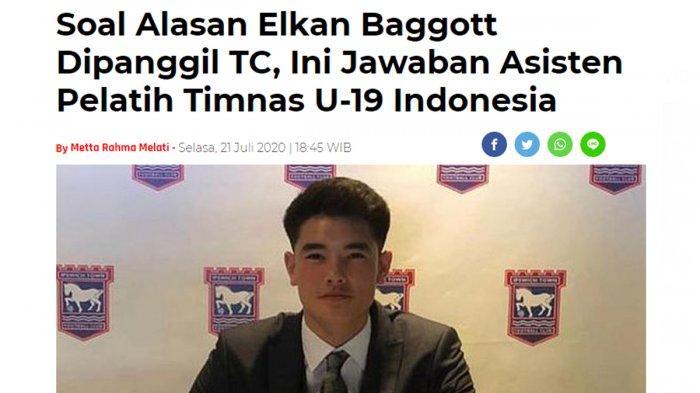 Profil Elkan Baggott, Pemain Keturunan Indonesia - Inggris yang Dipanggil Ikut TC Timnas U19
