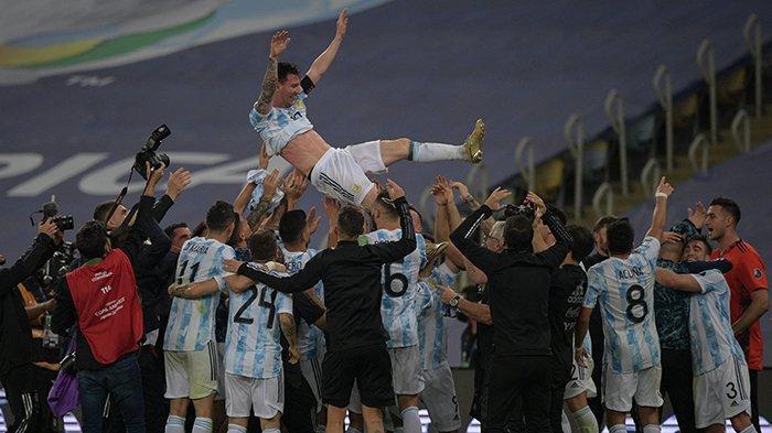 Reaksi Pemain Setelah Argentina Juara Copa America 2021,Angel Di María: Ini Tak Akan Terlupakan