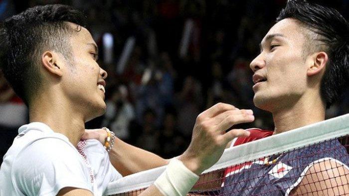 Anthony Sinisuka Ginting Kalah, Kento Momota Juara Tunggal Putra BWF World Tour Finals 2019