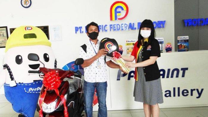 Warga Bintan Dapat  Motor dari Undian PFF Paint, Nantikan Hadiah Utama Mobil di Bulan Ini