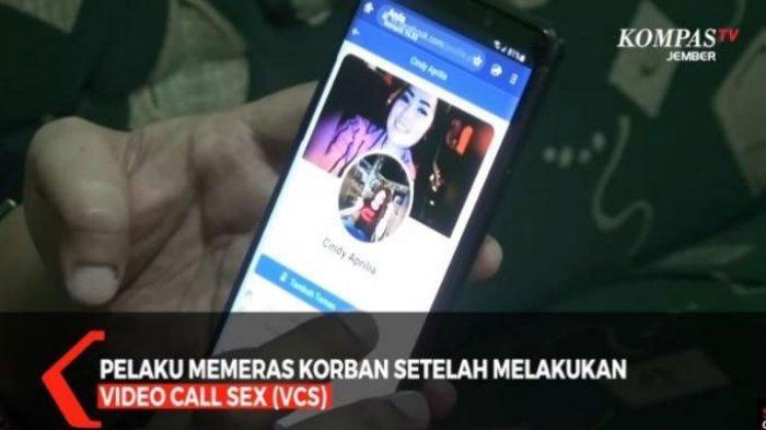 Pelaku memeras korban setelah menjebaknya dengan video call sex atau seks melalui panggilan video