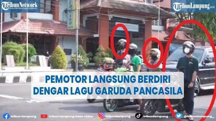 Viral Video Pengendara Motor Tiba-tiba Berdiri di Lampu Merah Ketika Dengar Lagu Garuda Pancasila