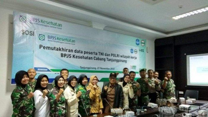 BPJS Kesehatan Cabang Tanjungpinang Melaksanakan Pemutakhiran Data Peserta Segmen TNI/POLRI