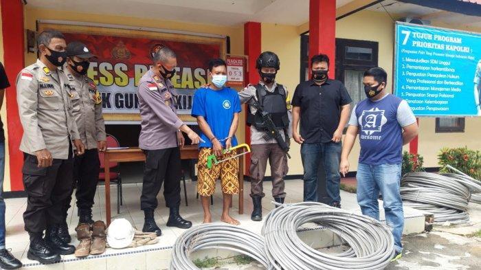'PR' Polsek Gunung Kijang, Cari Satu Tersangka Kasus Pencurian Kabel Listrik PLN di Bintan