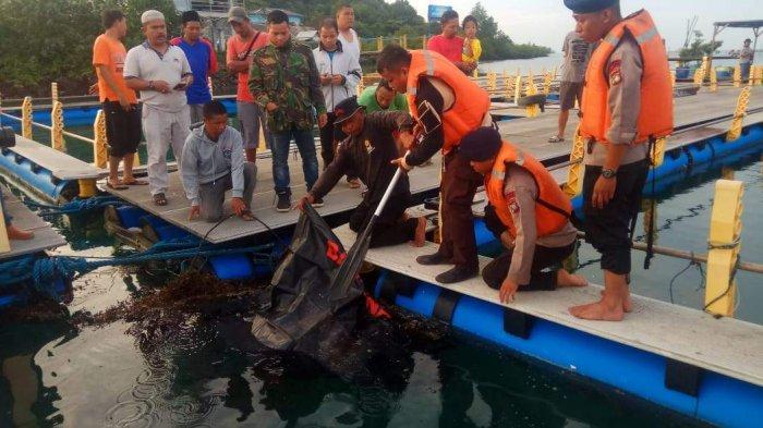 Ditemukan di Karamba Ikan Milik Nelayan, Jasad Rafly Dievakuasi ke RS Bhayangkara Polda Kepri