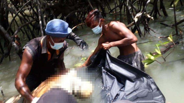 Penemuan mayat yang identitasnya belum diketahui di sekitar Pulau Karimun Anak, Senin (12/4/2021).