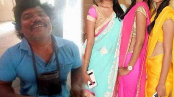 Chhotu Baraik dan tiga istrinya. Ilustrasi