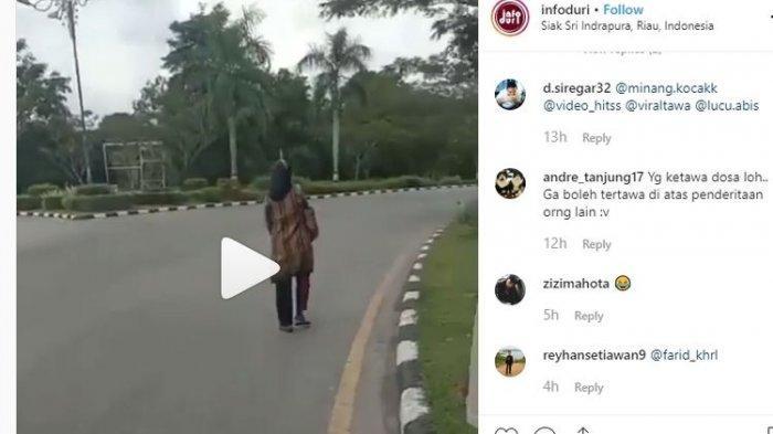 Viral, Video Pengendara Motor Kabur Tinggalkan Istri Karena Takut Ditilang Polisi