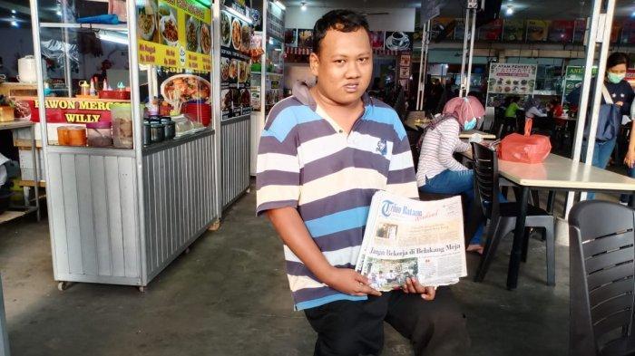 Penyandang Disabilitas di Batam, Muhammad Akbar Dansa, Minggu (28/2/2021).