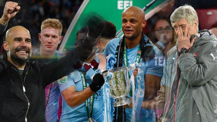 5 Catatan Menarik Usai Final Piala Liga Inggris. 3 Gelar Guardiola di Wembley. 3 Kegagalan Wenger