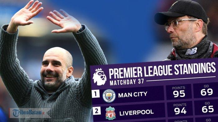 Hasil Lengkap Pekan 37, Klasemen & Top Skor Liga Inggris Setelah Man City Menang & Kuasai Klasemen